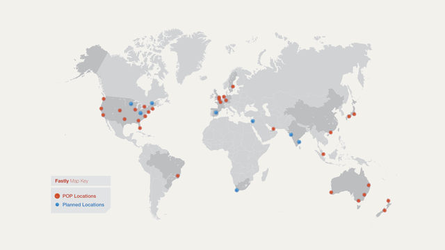 Fastly POP Map