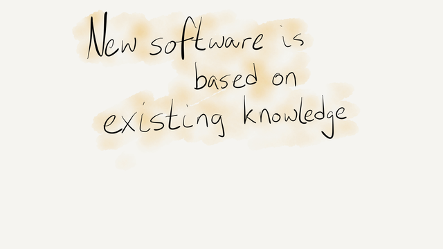 New software based on existing knowledge