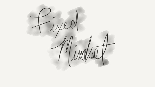 Fixed mindsets