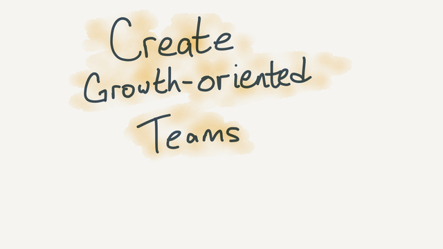 Creating growth-oriented teams
