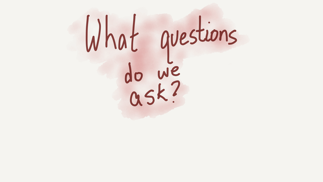 What questions do we ask?