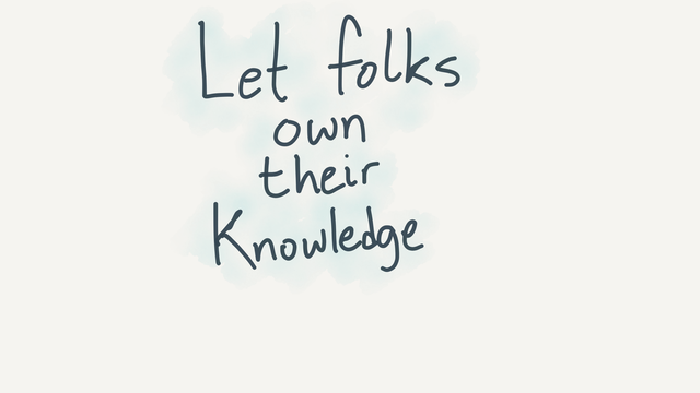 Owning knowledge
